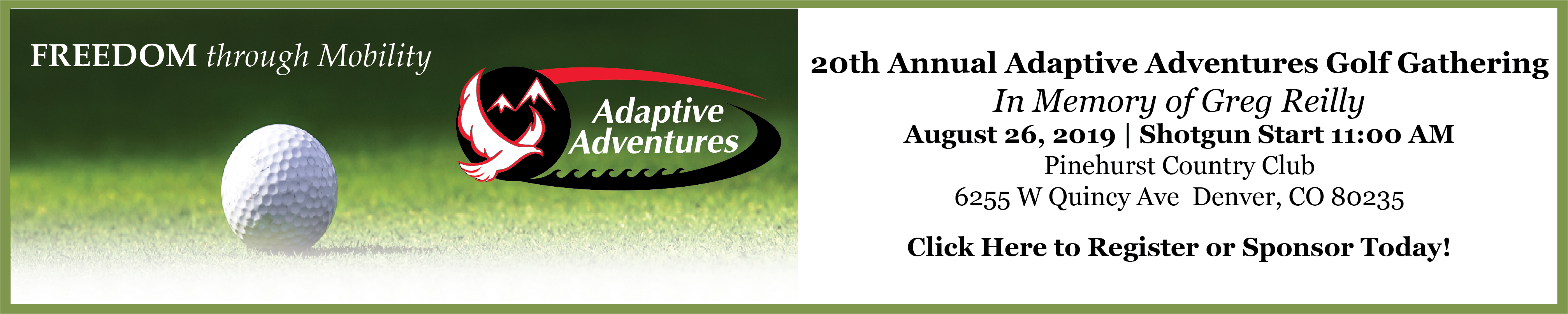20th Annual Adaptive Adventures Golf Gathering