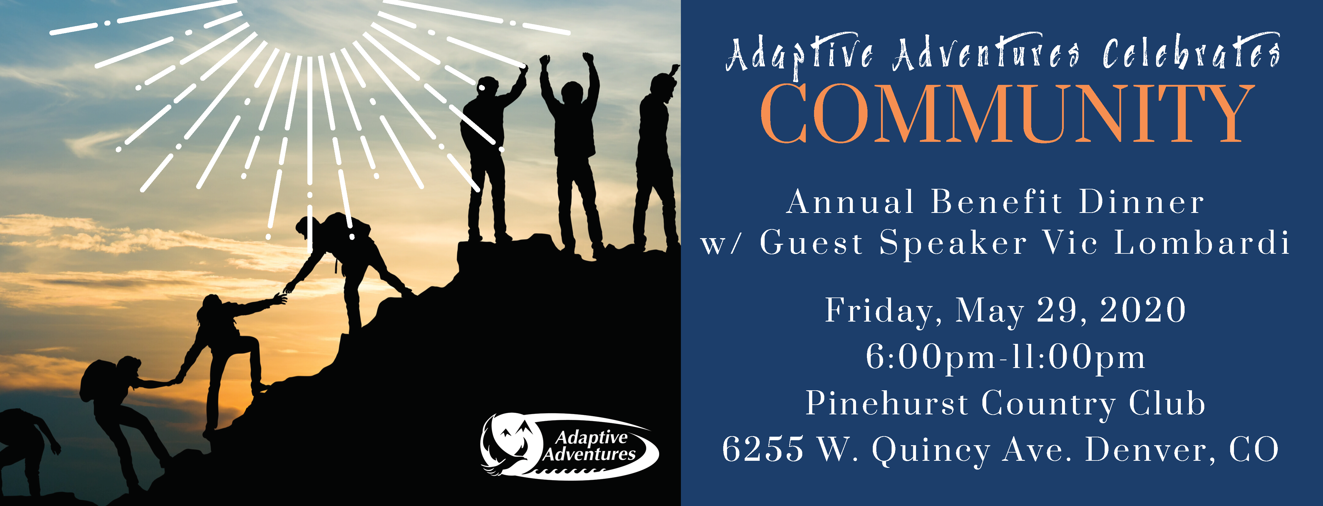 Adaptive Adventures Celebrate Community Fundraiser